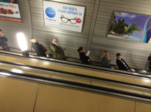 escalator in metro