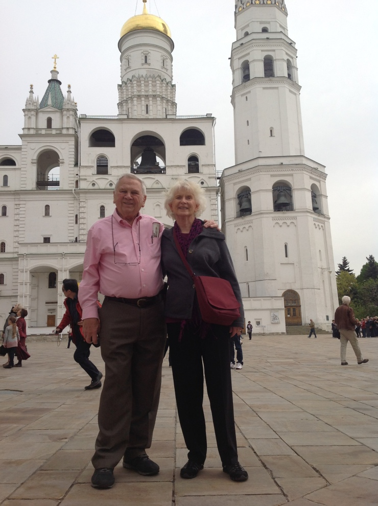 mom and dad in Kremlin