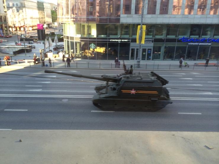 tank on Tverskaya