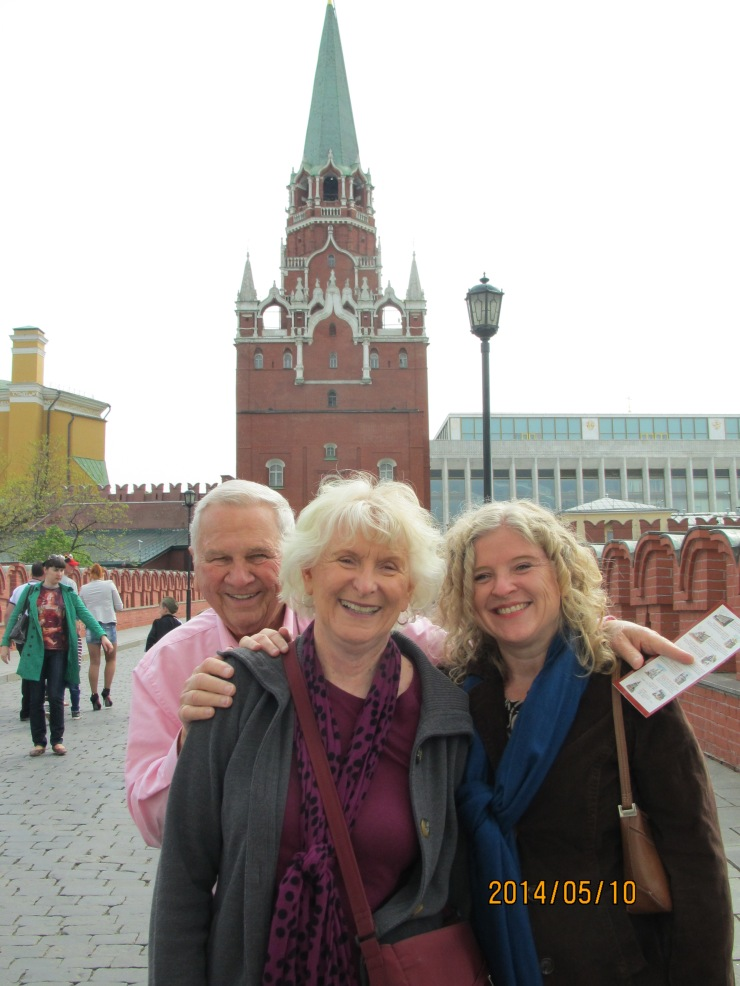 us on Kremlin bridge