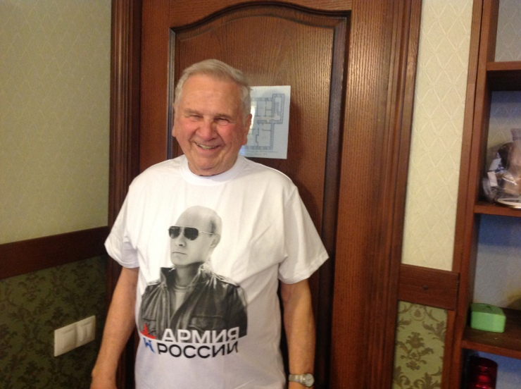 Dad in Putin shirt
