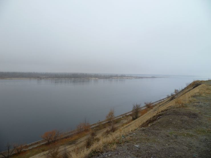Volga near place that was held